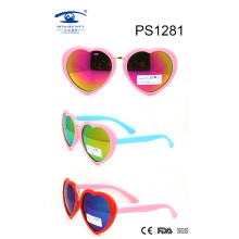 Cute Heart Shape Colorful Kid Plastic Sunglasses (PS1281)