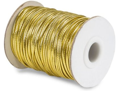 Braided Gold Metallic Elastic Cord