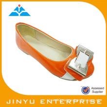 hot selling kids orange dress shoe