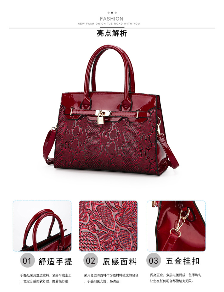 leather handbag shoulder bags latest design lady handbags