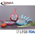 Forged colorful ceramic induction capsule bottom fry pan
