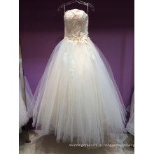 Новое Прибытие без бретелек линии свадебное платье под 150USD
