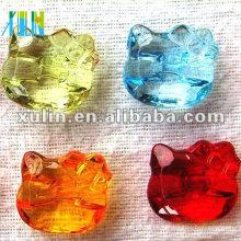 perlas de acrílico del gato del gatito transparente al por mayor