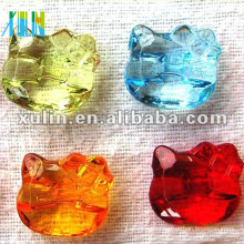 transparent kitty cat acrylic beads wholesale