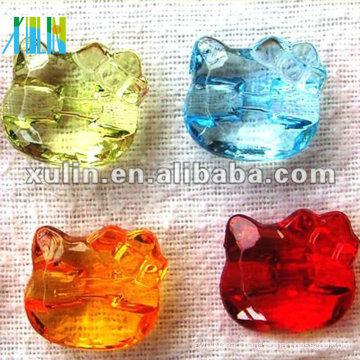 transparent kitty cat acrylic beads wholesale