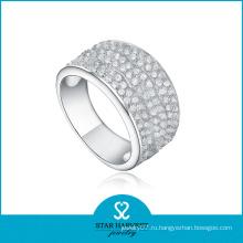 2016 Элегантное Кольцо Обручальное кольцо из микрополированного серебра (R-0160)