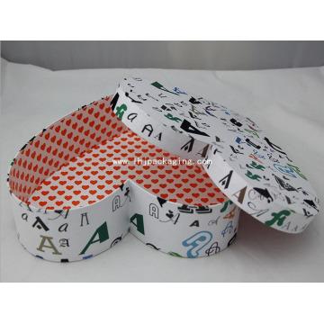 De alta calidad de regalo de embalaje de papel de forma de corazón
