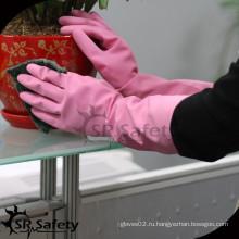 SRSAFETY домашние латексные водонепроницаемые перчатки для уборки дома