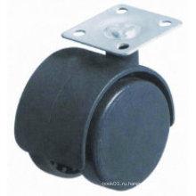 2-дюймовый, 50-мм заклинатель, Протекторный ролик, без тормоза, черные ролики из нейлона Мебельные ролики, Диван-стул
