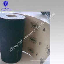 Rolo de papel de areia preto abrasivo carboneto de silício