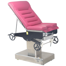 Manual gynecological examination bed