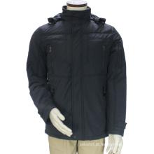 Homens Custom Fitness Estilo Stand Collar Casaco de Inverno com capuz