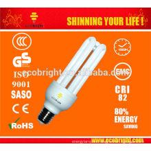 T4 3U 20W Energía ahorro luz 10000H CE calidad