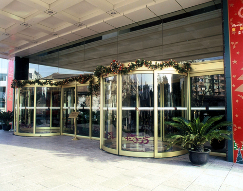 Automatic Curved Sliding Doors for Office Buildings
