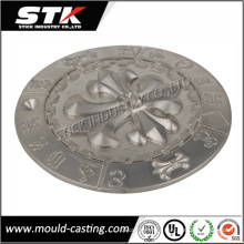 Liga de zinco personalizada fundição para a placa do logotipo (STK-ZDO0008)
