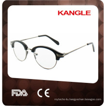 2017 new style high quality acetate combined with metal optical frames, conbination reading glasses