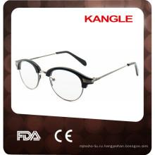 2017 новый стиль высокое качество ацетата в сочетании с металлические оптических оправ, очки для чтения conbination