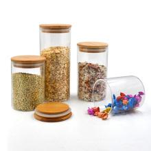 Wide Mouth Round Airtight Kitchen Food Spice Glass Storage Jar