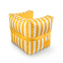 Outdor waterproof stripe pattern bean bag sofa chair