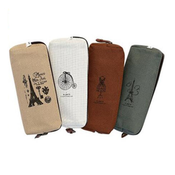 Printing Vintage Canvas Makeup Bag For Ladies