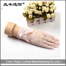 short cotton thin gloves with bowknot protect UV