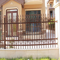 horizontal aluminum fence chrome fence