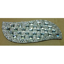 Folhas Rhinestone Motif, Hot Fix Rhinestone Applique