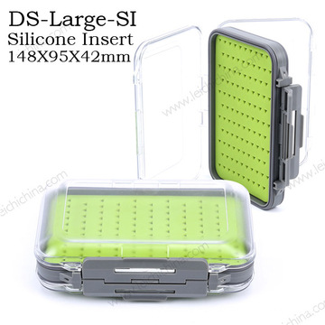 New Silicone Insert Waterproof Wholesale Plastic Fly Fishing Box