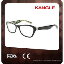 2017 Óculos de alta qualidade Lady acetato, novos moldes ópticos de acetato de forma