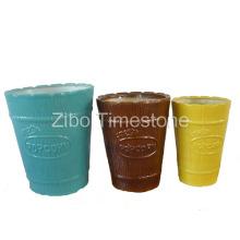 Popcorn Bowl-Stoneware Color Glazed (3101)