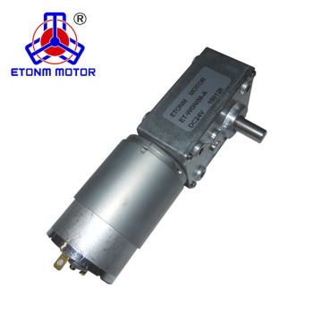 CE, RoHS approval quiet worm gear motor 12v 24v with low backlash