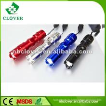 12000-15000MCD 0.5W mini preiswerte geführte Aluminium-Taschenlampenfackel