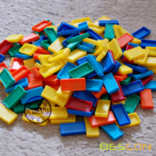 Domino Rally Colorful Plastic Dominos for Assemblage Art