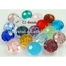 Artesanato de cristal colorido, grânulos de vidro yiwu
