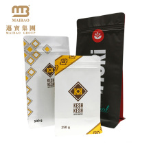 Coffee Packing Custom Design Printing And Size Flat Bottom 200G Stand Up Foil Gusset Bean Packaging Bags