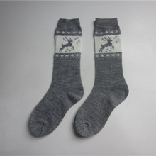Meias Deer Jacquard Winter