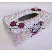 Customized Hand Made Diamond Jewelry Box Crystal Tissue Box (TBB-005)