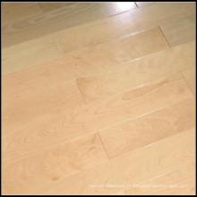 Plancher de bois franc d'érable solide de haute qualité