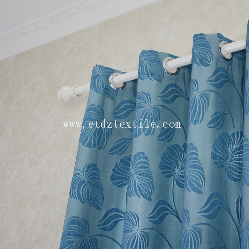 Popular Jacquard Circle Flower Design of  Window Curtain WZQ201