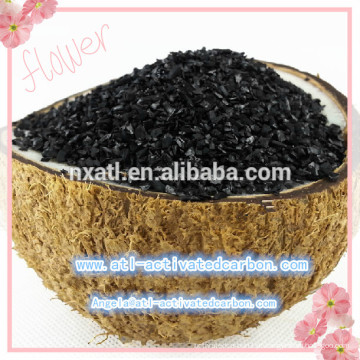 Granulado de carvão ativado com casca de coco (GAC) usado para tratamento de água