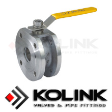 Válvula de bola tipo Wafer de acero fundido, Tipo de cuerpo delgado