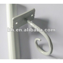 painted white Chinese curtain fitting small shower curtain hook