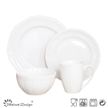 16PCS White Porcelain Dinner Set Wholesale