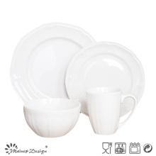 16PCS White Porcelain Dinner Set Wholesale