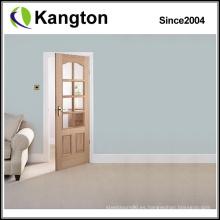 Puerta de madera de roble prehung exterior (puerta de madera)