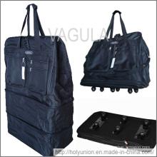"""VAGULA 40"""" Rolling Wheeled Duffle Bag Spinner Suitcase Expandable Luggage"""