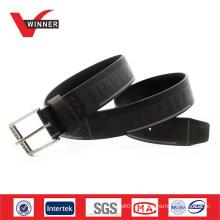 Fábrica Feita OEM Custom Embossed Men PU Belt