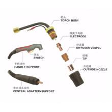 Peças sobressalentes para maçarico Plasma Cutting Torch LT50