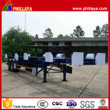 Double Axle Skeletal Container Chassis Port Terminal Trailer