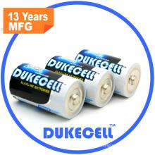 Taille de la batterie D super alcaline avec une feuille d'aluminium